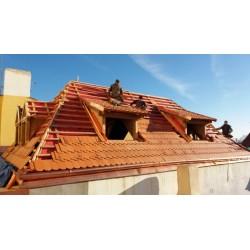 2018/12 - rekonstrukce střechy Praha Úvoz