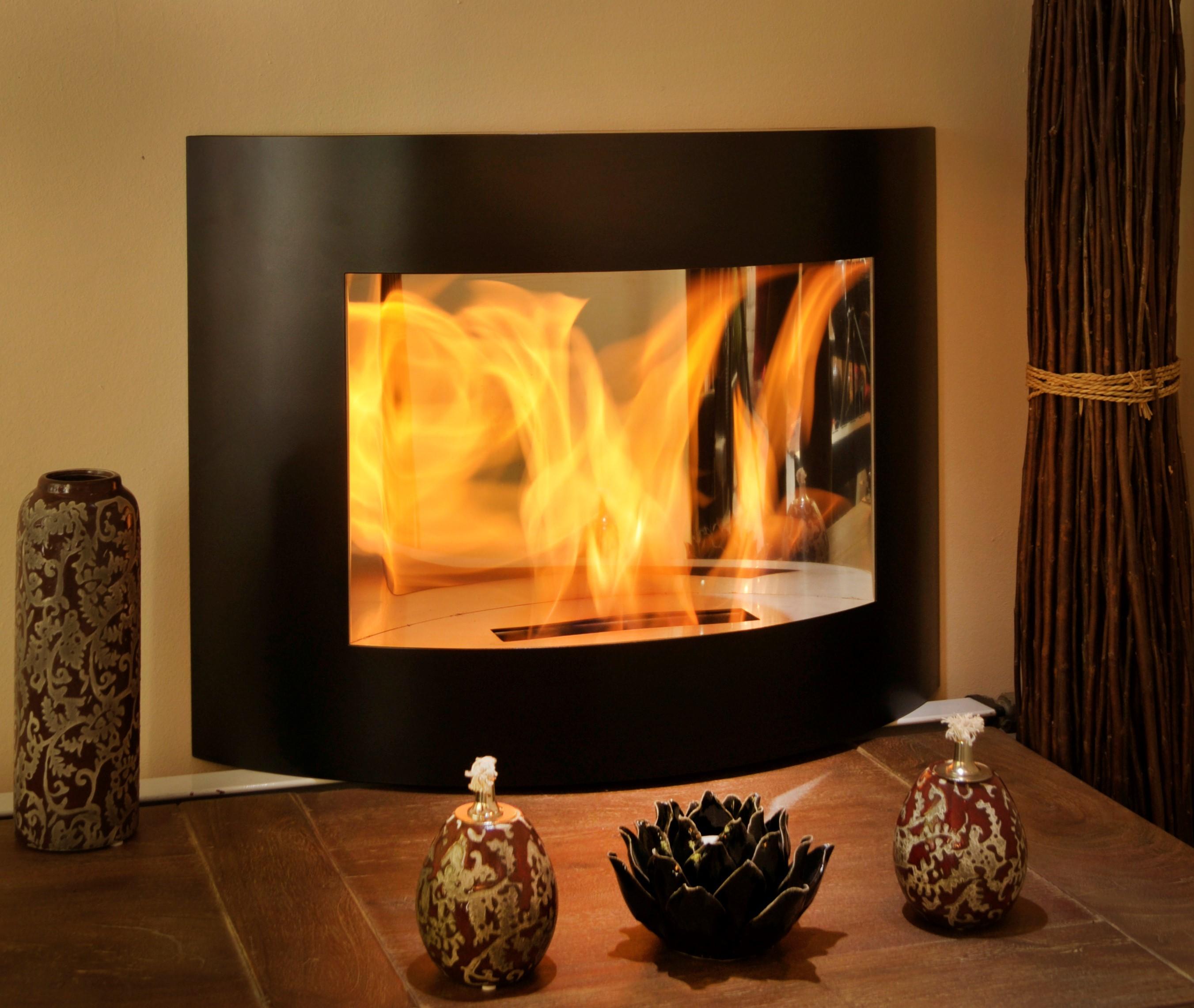 en af fireplace bio without chimney